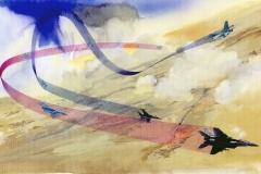 Air Combat Editorial Art