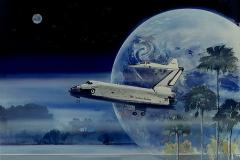 First Challenger Kennedy Landing